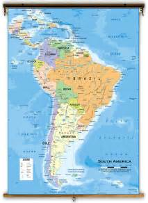 map of south america with latitude and longitude south america political classroom map from academia maps