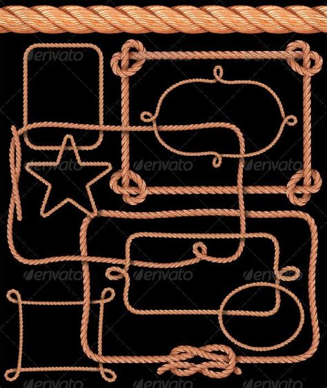 Rope Pattern Brush And Ready Made Rope Elements | 64 best adobe illustrator images on pinterest