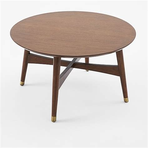 reeve mid century coffee table walnut west elm