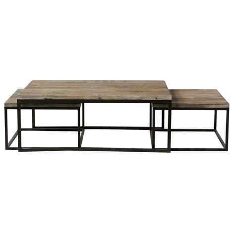tavoli estraibili 3 tavoli bassi estraibili stile industriale in abete