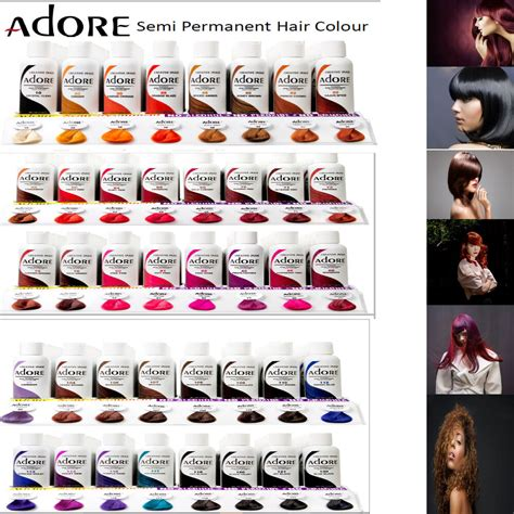 adore semi permanent hair color adore semi permanent hair dye colour ammonia peroxide
