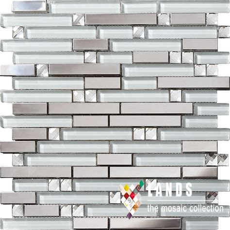 metal mosaics tile for bathroom backsplash home interiors crystal glass metal mosaic 3d stainless steel glass tiles