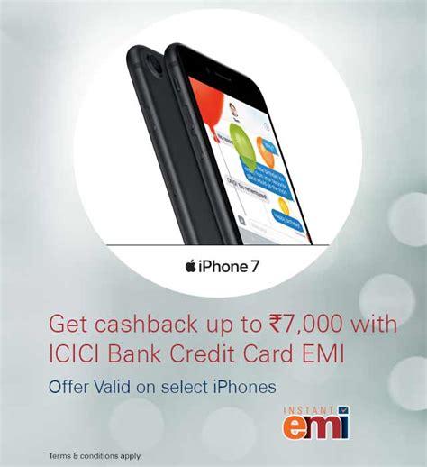 apple cashback offer on select iphones icici bank