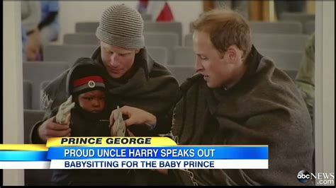see prince george with uncle harry en route to the queens royal baby prince george uncle harry says he will make