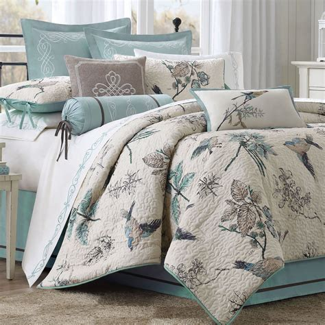 Home Gt Pyrenees Bird And Leaf Quilted Comforter Bedding Bird Bedding Set