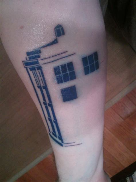 my tardis tattoo x post from nerdtattoos designed by