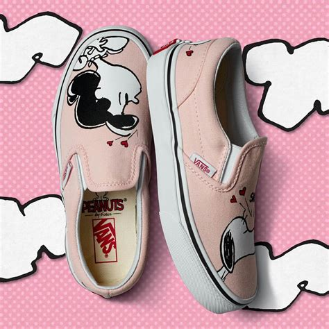 Vans Slip On Smack Pink X Peanuts Snoopy Original Bnib vans x peanuts classic slip on smack pearl
