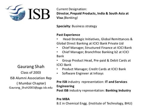 Is Isb Pgp Equivalent To Mba Usa Visa by More Alums Added To The Presentation