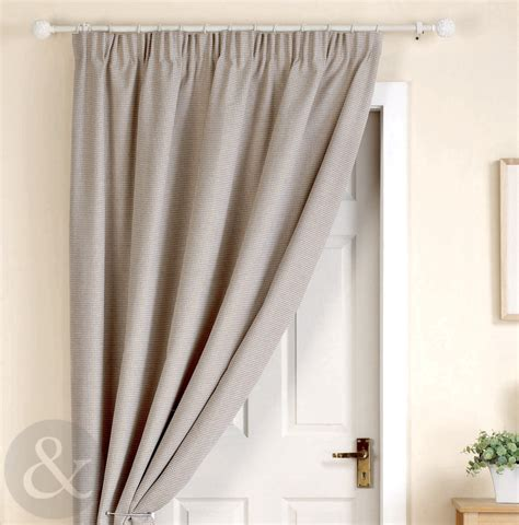 Thermal Front Door Curtains Thick Heavy Door Curtains Ready Made Thermal Lined 66 X 84 Door Curtain Panel Ebay