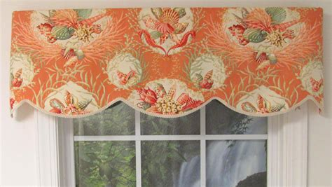 The Cornice Shop Seaworthy Seashell Pattern Cornice Valance