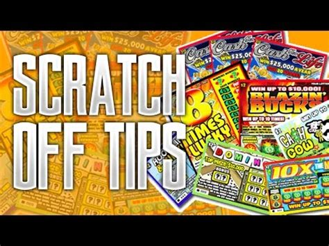How To Win Money On Scratch Offs - tips for playing scratch of lottery tickets doovi