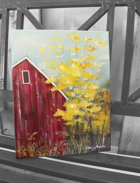 is acrylic paint ok on canvas easy acrylic paintings of barns search pinteres