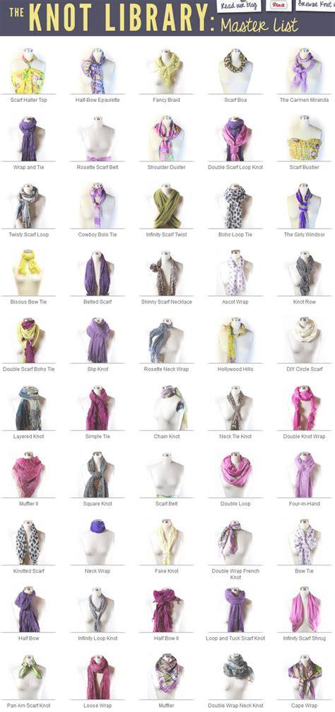 40 ways to tie your scarf knot diy for