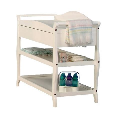 white changing table with drawers sleigh changing table with drawer in white 00524 581