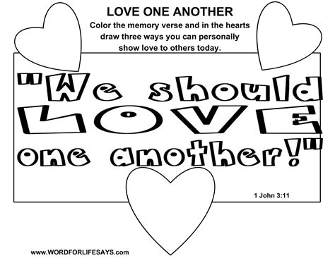 love one another sunday school lesson 1 john 3 11 24