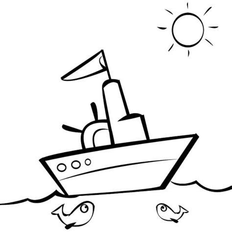dessin bateau colorier coloriage bateau gratuit