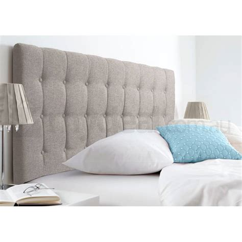 King Fabric Headboards by Maddison King Fabric Upholstered Headboard In Beige Buy