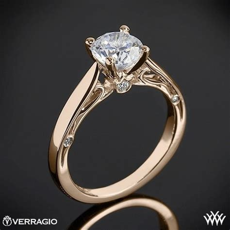 20k gold verragio cathedral solitaire engagement ring