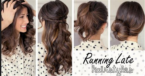 easy late for school hairstyles running late hairstyles for work or school easy life