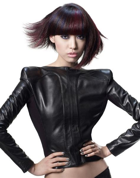 Wella Layered Top Black by A Medium Black Hairstyle From The Wella Collection No 19011