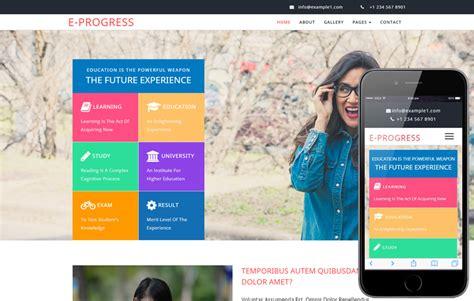 education website website templates for computer institute