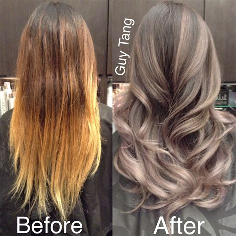 from brunett to grey silver grey ombre hair make over playlist beauty hair
