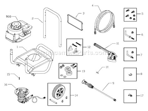 briggs and stratton pressure washer parts diagram briggs and stratton 020211 0 parts list and diagram