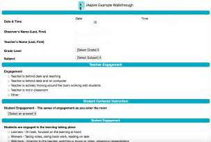 sle evaluation and classroom walkthrough forms