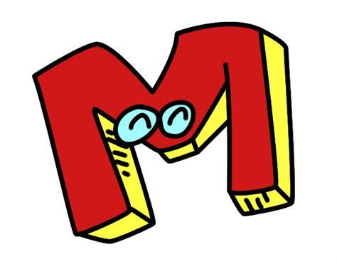 desenho de letra m pintado desenho de letra m pintado e colorido por usu 225 n 227 o registrado o dia 16 de maio do 2016