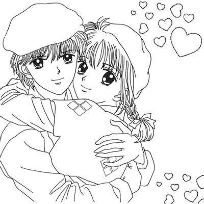 imagenes para pintar anime dibujos animes de amor para pintar y regalar a alguien