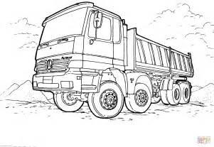 disegno camion mercedes da colorare disegni da colorare stampare gratis