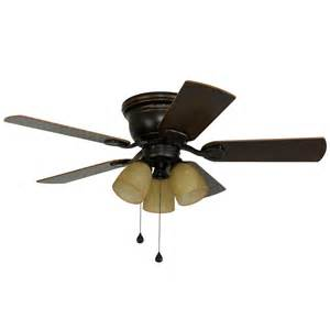 lowes ceiling fans flush mount shop harbor centreville 42 in rubbed bronze