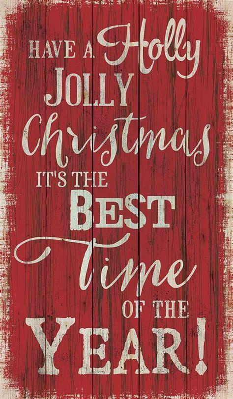 holly jolly christmas    time   year walldecor art merry christmas