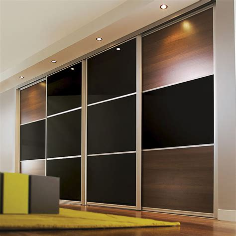 Black Sliding Closet Doors by Aries Closet Door Brown And Black Csd 04 Acrylic And Mdf Aries Interior Doors