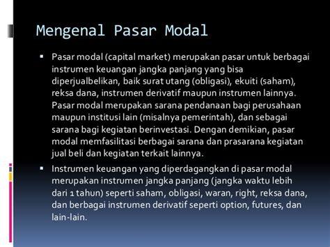 Pasar Derivatif Derivatif Market pengertian pasar modal