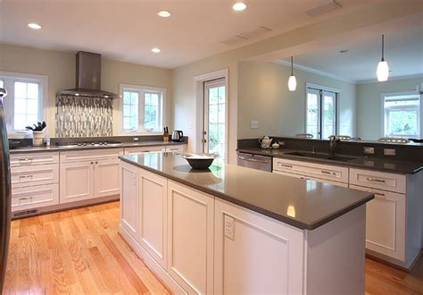 White Island Gray Countertop   Traditional   Kitchen   DC Metro   by NVS Remodeling & Design