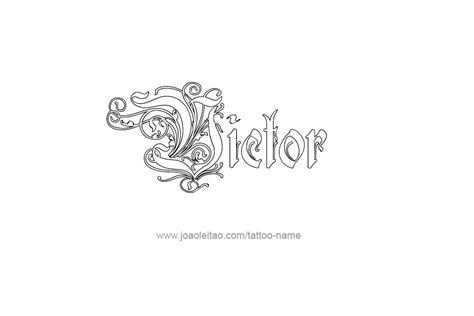 victor tattoo victor name designs