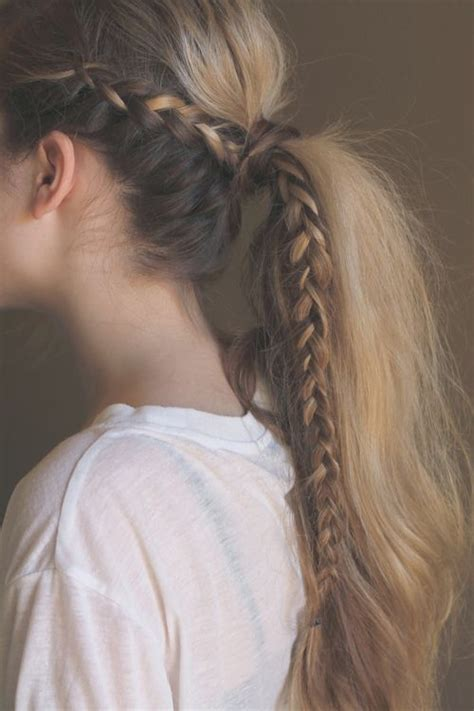 Braided Ponytail Hairstyles by Braided Ponytail Hairstyles 40 Ponytails With Braids