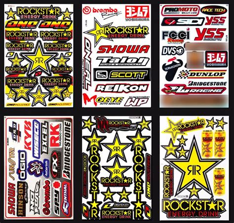 Sticker Bike Race by Race Car Graphics Vinyl Decals Dirt Bike Stickers Kits