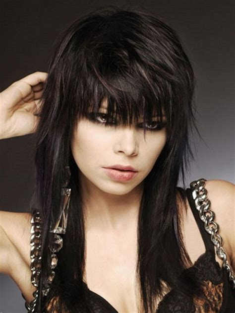 rocker shags rock hairstyles for women