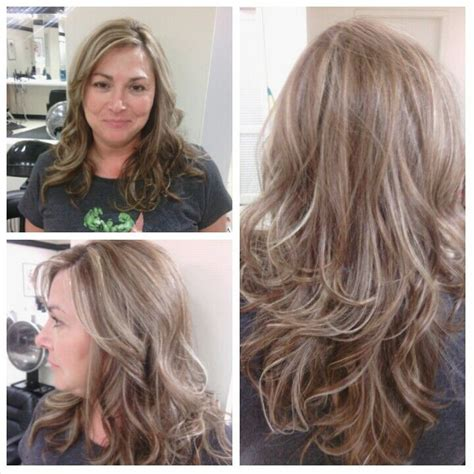 best toner for highlighted hair level six warm mocha with platinum highlights matrix color toned with pm shines 9v by lisa