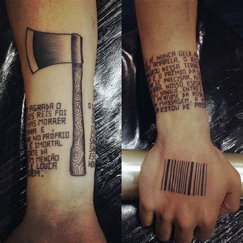 barcode tattoo hand 30 barcode tattoo designs for men parallel line ink ideas