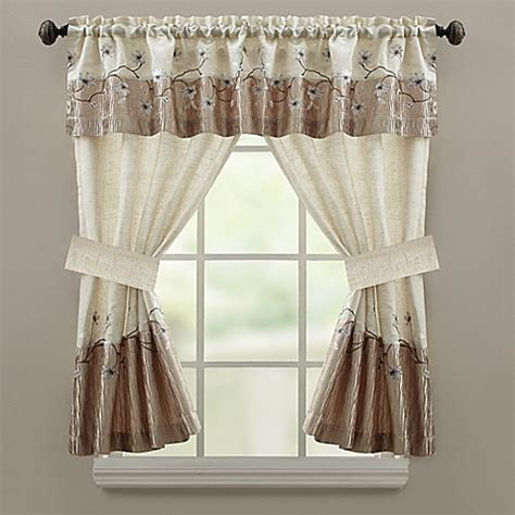 curtains 64 inches long croscill 174 magnolia 64 inch bath window curtain panel bed