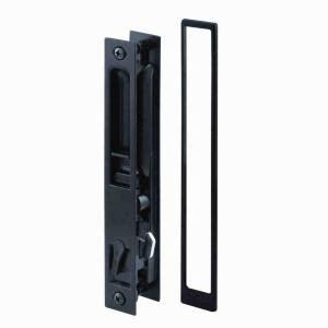Patio Door Lock Types Prime Line Black Flush Mount Sliding Door Handle Set C 1101 The Home Depot