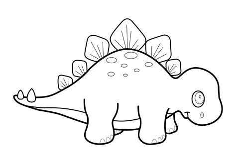 stegosaurus clipart dinosaur outline pencil and in color
