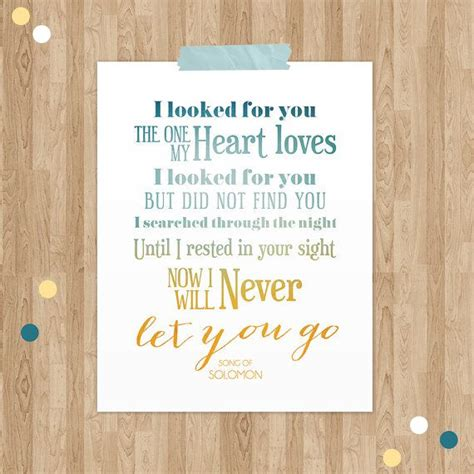 Wedding Bible Verses Song Of Songs by Song Of Solomon Bible Verse Typographic Print