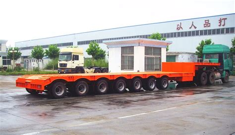 low bed cheap price 4 axle low bed semi trailer 100 ton 120 tons