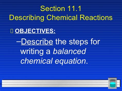 section 11 1 describing chemical reactions practice problems section 11 1 describing chemical reactions practice