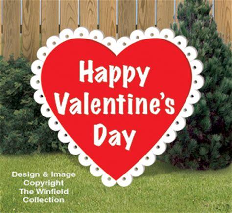 big valentines valentines large woodcraft pattern