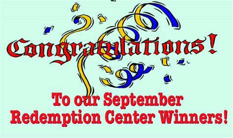 Pch Token Redemption Center - september redemption center winners from pch com pch blog